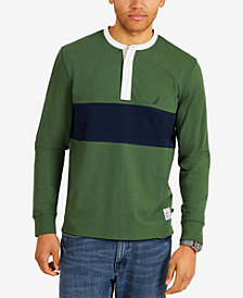Nautica Men's Big & Tall Wide-Stripe Henley