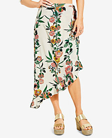 GUESS Bree Asymmetrical Wrap Skirt