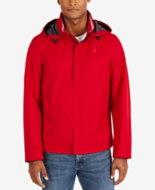 Nautica Men's Waterproof Packable Hooded Bomber Jacket