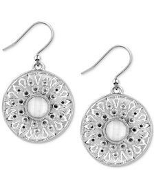 Lucky Brand Silver-Tone Imitation Mother-of-Pearl Drop Earrings