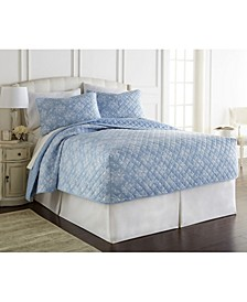 Micro Flannel® Queen Fitted Quilt Mini Set