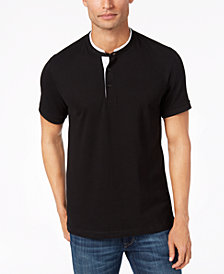Kenneth Cole Knit Band-Collar T-Shirt