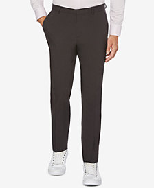 Perry Ellis Men's Portfolio Extra Slim-Fit Solid Water Repellent Dress Pants