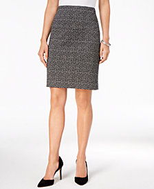 Nine West Knit Tweed Pencil Skirt