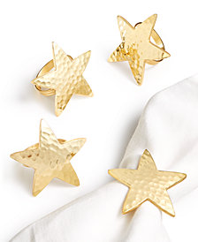 Bardwil Star Bright Set of 4 Napkin Rings