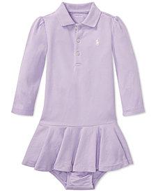 Ralph Lauren Baby Girls Long-Sleeve Cotton Polo Dress