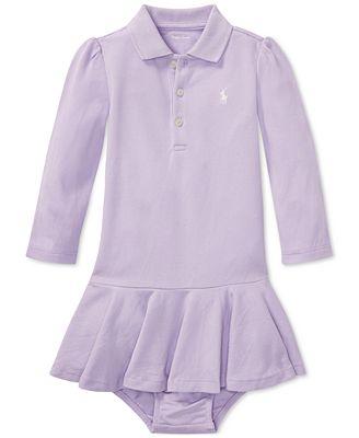 Polo Ralph Lauren Ralph Lauren Baby Girls Long Sleeve Cotton Polo