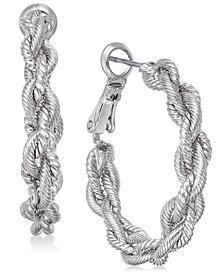Charter Club Gold-Tone Braid Hoop Earrings, Created for Macy's