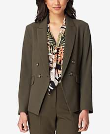 Tahari ASL Double-Breasted Blazer