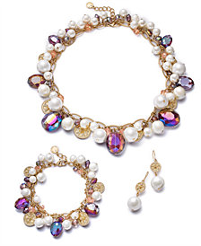 Charter Club Gold-Tone Coin, Bead & Imitation Pearl Jewelry Separates, Created for Macy's