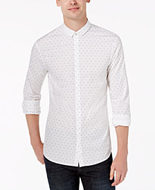 A|X Armani Exchange Men's All Over Ditsy Slim-Fit Mini-Logo Print Shirt