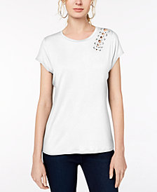 I.N.C. Lace-Up Top, Created for Macy's