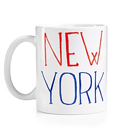Macy's Exclusive Cityscape Ceramic Mug Designed By Julia Gash For Macys New York.