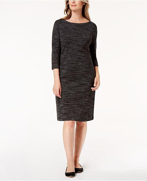 Karen Scott Petite Space Dyed Dress Created For Macys Dresses