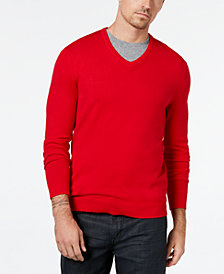 Alfani Men's Tipped V-Neck Sweater, Created for Macy's