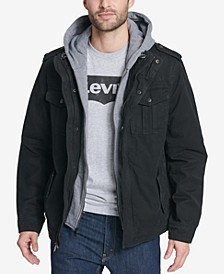 Men's Two Pocket Hooded Trucker Jacket