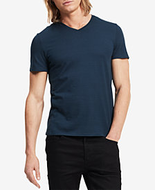 Calvin Klein Men's Slim Fit V-Neck Textured Tee