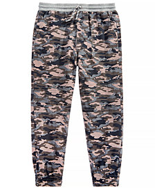 Epic Threads Big Boys Camo-Print Moto Cotton Jogger Pants, Created for Macy's