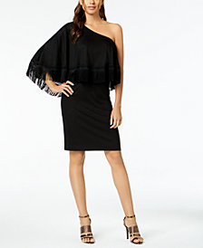 Trina Turk Eastside One-Shoulder Fringe Dress