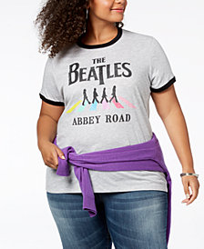 Hybrid Plus Size Beatles Graphic T-Shirt