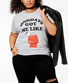 Hybrid Plus Size Snoopy Mondays T-Shirt