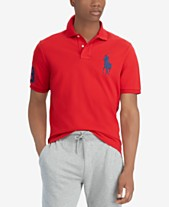 8b78b94cf Polo Ralph Lauren Men's Big & Tall Classic Fit Big Pony Mesh Cotton Polo