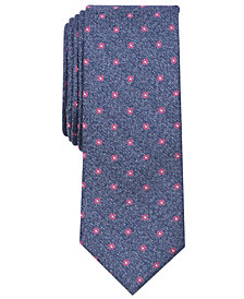 Bar III Men's Cheverly Neat Skinny Tie, Created for Macy's