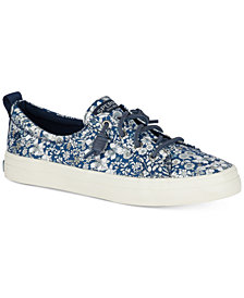 Sperry Women's Crest Vibe Libery Floral-Print Memory-Foam Fashion Sneakers