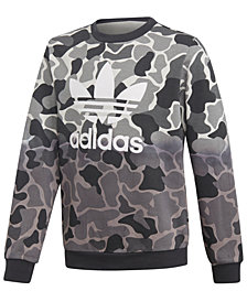 adidas Big Boys Dip-Dye Camo Sweatshirt