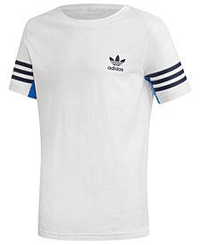 adidas Originals Big Boys' 3-Stripe-Sleeve T-Shirt