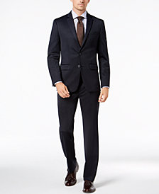 Van Heusen Flex Men's Slim-Fit Stretch Navy Tic Suit