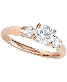 Diamond Three-Stone Engagement Ring (1 ct. t.w.)