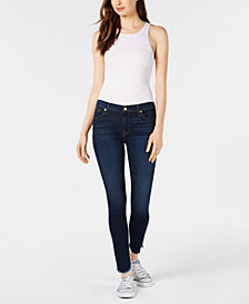 7 For All Mankind Scalloped Ankle Skinny Jeans