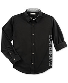 Calvin Klein Big Boys New Icon Cotton Shirt