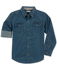 Calvin Klein Big Boys Chambray Cotton Shirt