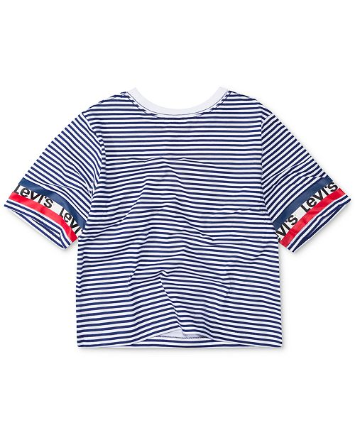 255bd25ff Levi's Big Girls Striped Cotton Crop T-Shirt & Reviews - Shirts ...