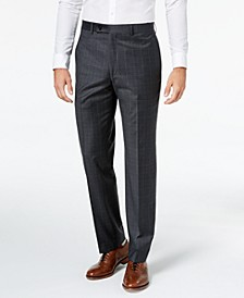 Men's Classic-Fit Windowpane Flannel Dress Pants