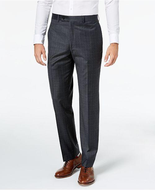 Lauren Ralph Lauren Men's Classic-Fit Windowpane Flannel Dress Pants