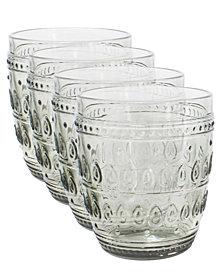 EuroCeramica Fez Double Old Fashion Glasses, Set of 4