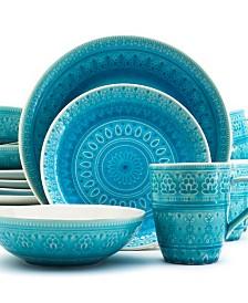 Euro Ceramica Fez 16 PC Dinnerware Set