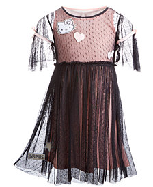 Hello Kitty Little Girls 2-Pc. Swiss Dot Patch Dress