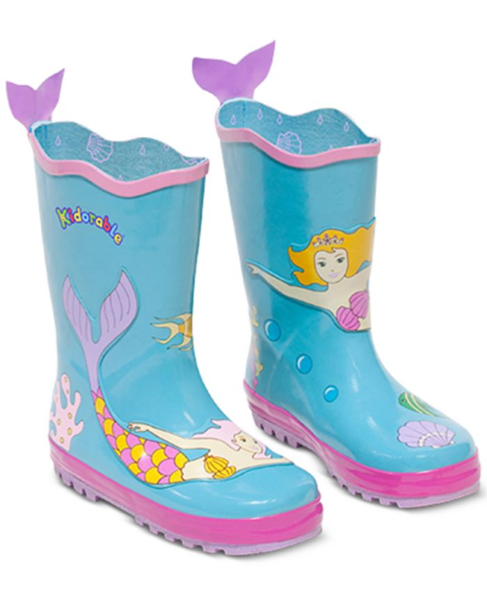Kidorable - Little Girls Mermaid Rain Boots