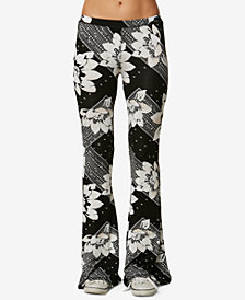 O'Neill Juniors' Kelli Printed Flared Pants