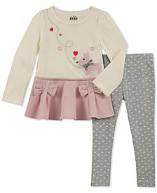 Kids Headquarters Baby Girls 2-Pc. Dog Bows Tunic & Leggings Set