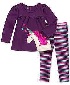 Kids Headquarters Baby Girls 2-Pc. Split-Back Unicorn Tunic & Leggings Set