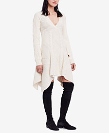 Free People Cables and Castles Cotton Sweater Dress