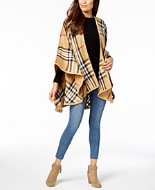 V. Fraas Exploded Plaid Poncho