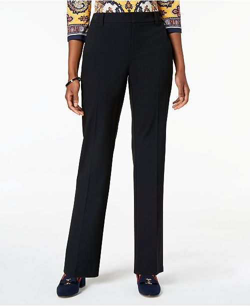 Macy's Created Charter Navy Leg Club for Pants Straight xapAY