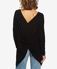 Twist-Back Knit Top