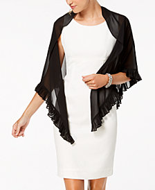 Alex Evenings Ruffled Chiffon Shawl